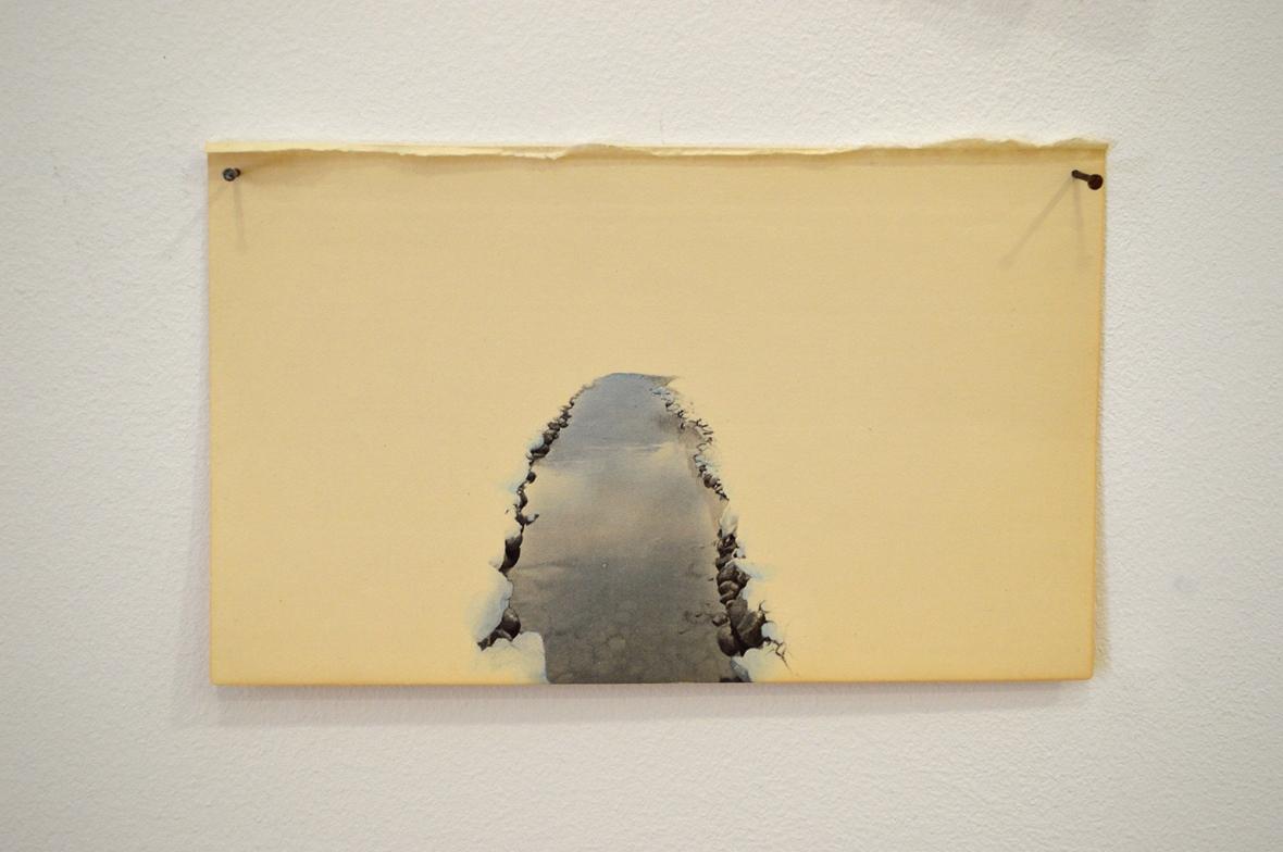 JUAN ZAMORA 'River' Drawing on paper. 12 x 19 cm. 2014